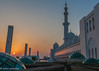 Perspective of the Abu Dhabi grand mosque domes at sunset (Jhopne) Tags: grand mosque abu dhabi uae sunset dome domes architecture canonef2470mmf28lusm canoneos5dmarkii