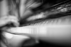 Stravinsky's dream (bwbjn) Tags: bw piano pianoforte hand perspective diagonal london chiswick music afternoon notes light
