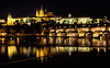 Prague at Night (Dalliance with Light (Andy Farmer)) Tags: stone night charlesbridge prague praguecastle reflections architecture gothic 14thcentury historic vltavariver czechrepublic hlavníměstopraha czechia cz
