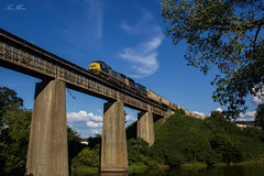 CSX V116 at Etowah River (travisnewman100) Tags: csx freight train railroad unit grain bridge wa subdivision atlanta division c408w ge v116 emerson georgia