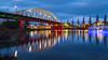 Arnhem - John Frost Bridge (Arjan Almekinders) Tags: arnhem johnfrost john frost bridge brug bluehour thebluehour thenetherlands holland rijn rijnbrug blauwe uurtje le longexposure cityscape reflection