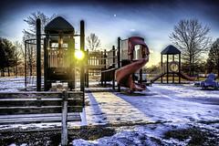 Cold Playground #2 (FedeSK8) Tags: buckscounty fedesk8 federicoscotto federicoscotto©2017 fujifilmxm1 lake snow sunset winter playground neve controluce