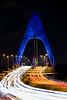 Blue Triangle (Cyclase) Tags: bay bridge bulb dapeng taiwan asia pingtung brücke nacht night lighttrails light street langzeitbelichtung pengwankuahaibridge