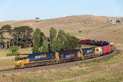 2017-12-10 Pacific National NR12-AN9-NR78 Cullerin 7BM4 (deanoj305) Tags: pacific national 7bm4 nr12 an9 nr78 intermodal container freight train locomotive cullerin nsw