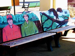 A BENCH FOR GRUMPY OLD MEN (Visual Images1 (Thanks for over 4 million views)) Tags: bench hbm grumpyoldmen wabasha minnesota eagles