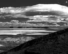 Perennial (Scott Holcomb) Tags: southwesternlandscape navajonation shiprock newmexico asahipentax6x7 supermulticoatedtakumar6x714200mmlens hoya67mmr72filter rolleiir400film blackwhiteinfrared 6x7 120film mediumformat epsonperfectionv600 photoshopdigitalization