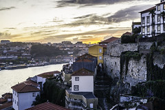 Overlooking Porto during sunset