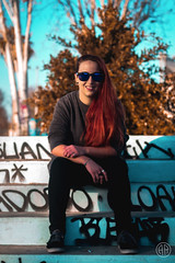 (alexrf96) Tags: alexrf96 aleruiz alexruiz alejandroruiz alejandroruizfernándezdeangulo photo photograph foto fotografía canon canonista picoftheday sevilla seville andalucía andalusia españa spain retrato portrait girl woman mujer chica redhead pelirroja urban model modelo vintage colors colorful skatepark skate
