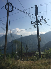 electrical script (grapfapan) Tags: travel vietnam landscape cabling wired electricpole mountains sapa