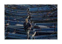 Blue boats.   ( Essaouira ) (José Luis Cosme Giral) Tags: blueboats fisherman boats port travel streetphotography canon essaouira morocco