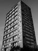 Gordon House (Gary Kinsman) Tags: thehighway gordonhouse shadwell eastlondon eastend e1 london bw blackwhite tower highrise architecture brutalism brutalist modernism modernist socialhousing councilestate towerblock concrete lookingup