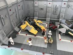 LEGO® Star Wars: Interceptor Starfighter Hangar 2.0 - 04 (jm_aalen) Tags: lego® moc afollu star wars starwars greebles starfighter space spaceship nurbies republic cockpit widget battle gunship interceptor hangar eta2 actis