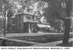 John and Mary E Kirby home, Monticello, IL, 1905 (RLWisegarver) Tags: piatt county history monticello illinois usa il