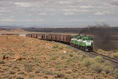 (THE Woodtick) Tags: alco c424 mlw theapacherailway arizona holbrook century series smoke desert rock sand scrub exhaust