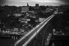 Porto (michael.mu) Tags: leica m240 50mm noctilux leicanoctiluxm50mmf095asph porto portugal bw blackandwhite monochrome bridge night architecture