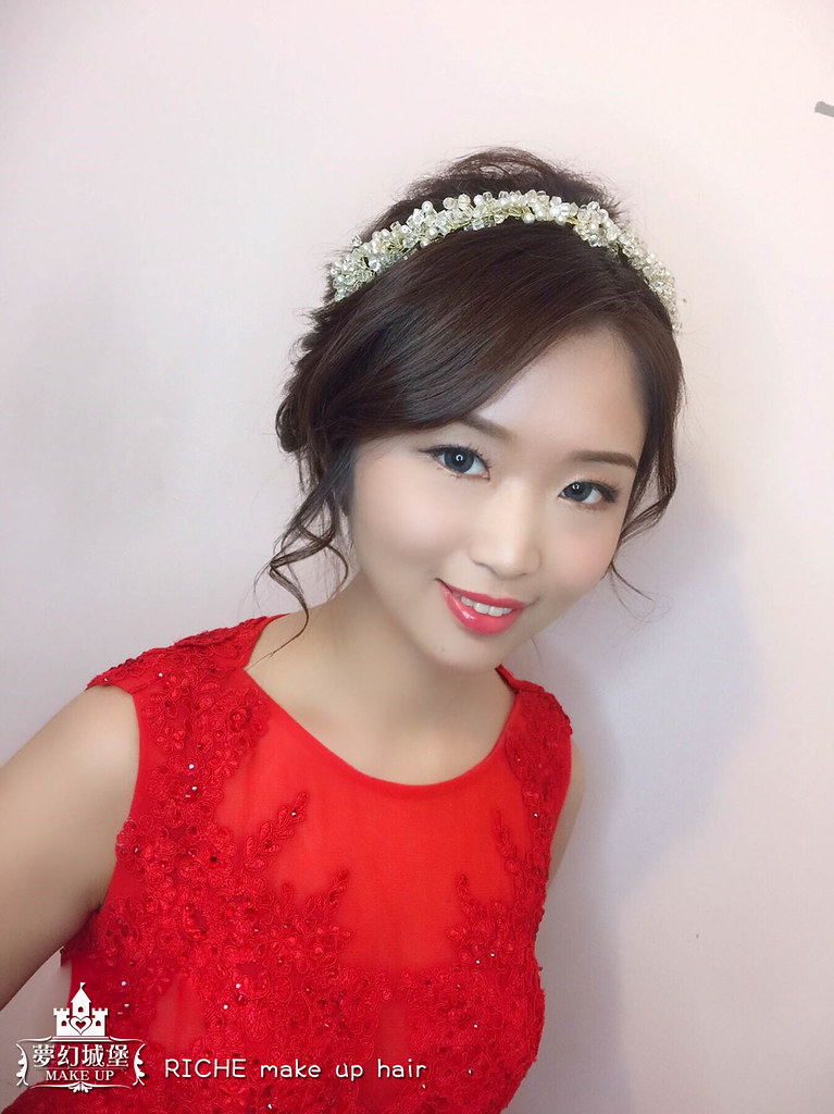 【新秘RICHE】bride伊禎 訂婚造型 / 台北自宅