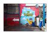 Street Art (The Lurkers), North London, England. (Joseph O'Malley64) Tags: thelurkers streetartists streetart urbanart publicart freeart graffiti northlondon london england uk britain british greatbritain art artists artistry artwork mural muralists wallmural wall walls concrete steelreinforcedconcrete steelframework woodwork carwash satellitedish wiring electricalwiring airline tyrepumphose inflator tarmac oildrum detergentcontainers garage urban urbanlandscape aerosol cans spray paint fujix x100t accuracyprecision beer lager alcohol