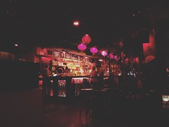 First time here, it's like drinking and eating in a dungeon #drinks #food #dark #asian