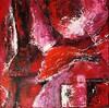 Abstrakt in Rot...aus meiner Fantasie (Gabriele Schneider) Tags: rot abstrakt spachtelarbeit rottöne abstrakte formen acryl