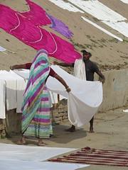 varanasi 2017 (gerben more) Tags: varanasi laundry benares india sari man woman ghat