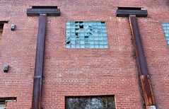 Wall Abstract (Neal3K) Tags: griffinga georgia bricks oldbuilding vintagebuilding abstract brokenwindows drainpipe rust