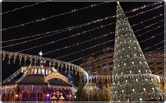 Christmas market in Bucharest - 1 (Ioan BACIVAROV Photography) Tags: winter december panorama night city old oldcity architecture buiding history istorie cladire romania christmas market bucharest bucuresti christmasmarket light