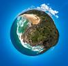 Noosa Heads Mini Planet (Al Kerr) Tags: noosa heads sunshine beach queensland australia blue sky sea waves sand alkerr alkerrmedia mini planet world
