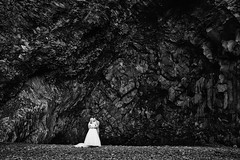 Hilary & Joshua (LalliSig) Tags: wedding photographer iceland brúðkaup ljósmyndari people portrait portraiture march outdoor black white gray