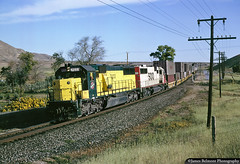 Pool Power on UP's Lynndyl Sub (jamesbelmont) Tags: chicagonorthwestern cnw sooline soo stockton utah emd sd50 sd60