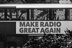 Make Radio Great Again (Piotr_PopUp) Tags: singapore chinatown bus passenger blackandwhite bw monochrome mono street streetphotography urban candid asia bnw