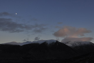 Moon over the North Western Fells
