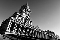 Day 362. Royal Naval Chapel. (Rob Emes) Tags: noir london royalnavalcollege oldrnc greenwich chapel architecture building bw black mono g7xii canon 3652017 365 dec2017
