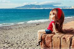 Vintage girl in a modern world (Erla Morgan) Tags: doll pullip pullipsouseiseki souseiseki souki erlamorgan groove junplanning 52dollyweekproject landscape vintage girl