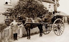 Latchingdon (footstepsphotos) Tags: latchingdon waggon wagon horses horse cart carriage people wheel animal pub inn old vintage photo past historic