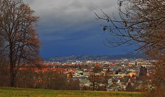 """""""Burglind"""" comes to Dresden (kadege59) Tags: burglind dresden canonpowershotsx230hs canon saxony germany europe storm clouds colours winter tree city cityscape wow holiday landschaft"""