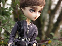Dear Dimitri... (Little Queen Gaou) Tags: taeyang full custo vampire doll groove pullip gothic forest forêt wild sauvage nature winter victorian inspiration dracula books livres personnage character photography photographie garden jardin