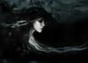 I Am the Ash Left From My Own Extinguishment (Spoken in Red) Tags: darkart darkportrait gothicart womanportrait luminousskin paleskin tatteredveils cowl hood mood sadness mourning spokeninred