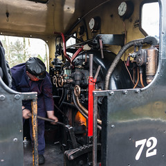 DSG_2689_LR.jpg (Paul Harris UK) Tags: preserved 1945 eridgestation fireman locomotive no72 kent spavalleyrailway steam firebox ncb vulcanfoundry train heat heritage lbscr stoker saddletank flames hunsletausterity060locomotive eridge england unitedkingdom gb