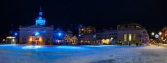 Pano Shot Springer Market Square Christmas Eve (NicoleW0000) Tags: kingston springermarketsquare christmas nightphotography city cityscape lights christmastree panoramicimage pano