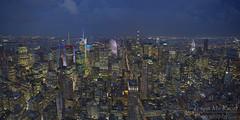 New York City Skyline Panorama (Brian Knott Photography) Tags: ny nyc newyork newyorkcity city urban skyline buildings skyscrapers skyscraper clouds cloudy night dark lights nightphotography empirestatebuilding nyskyline nycskyline manhattan manhattanskyline timessquare chryslerbuilding newyorkskyline newyorkcityskyline