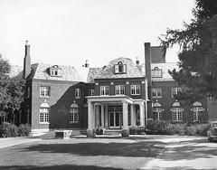 Kirby Hospital, Allen F. Moore Mansion, 1111 N. State, 01 Monticello, IL c1945 (RLWisegarver) Tags: piatt county history monticello illinois usa il