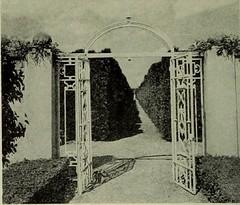 Allerton Park Iron Formal Garden Gate, Monticello, IL 1951 (RLWisegarver) Tags: piatt county history monticello illinois usa il
