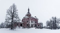 Abandoned Church in a winter landscape. (Oleg.A) Tags: winter landscape russia church nature orthodox frost cathedral ryazanregion rural outdoor villiage snow catedral landscapes outdoors saltykovo ryazanskayaoblast ru