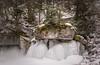on the rocks (richardnz308) Tags: malignecanyon canada canyon jasper ice icewalk forest trees rocks river alberta winter snow cold