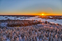 Clear winter morning (Arttu Uusitalo) Tags: sunrise winter morning sunny clear sky wideangle hdr finland southern ostrobothnia jalasjärvi woods canon eos 5d mkiv 24105l field