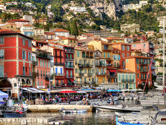The pretty harbour village of Villefranche, France (All I want for Christmas is a Leica) Tags: villefranche france harbour village colours water boats promenade panasoniclumix panasonic lumix m43 microfourthirds mirrorless