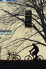 Phantom Cyclist (Rob J Dart) Tags: johnterp oldtownalexandria alexandriava sillouette shadows nikkor35mmf14ais