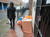 20171213T13-29-47Z-_C139194 (fitzrovialitter) Tags: bloomsburyward england fitzrovia gbr geo:lat=5152277700 geo:lon=013773800 geotagged unitedkingdom boxes bags entrance grill doorway girl