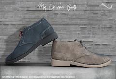 -NU- My Chukka Boots (NativeUrban) Tags: chukka boots men man native urban secondlife originalmesh suede sl chukkaboots