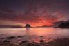 Feliz Navidad (samurifu) Tags: sea sunset nature beach landscape coastline scenics sky dusk seascape summer island water outdoors beautyinnature sunrisedawn sun rockobject tropicalclimate vacations ibiza caladhort esvedrá red